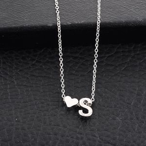 Jewelry - Dainty Silver Heart & S Initial Necklace